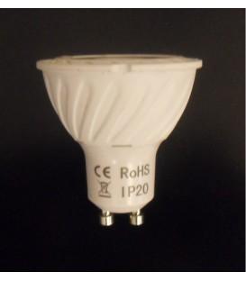 Lampada COB led GU10 230Vac 7W bianco naturale 4000K