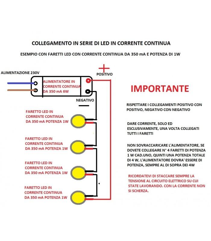 Schema Collegamento Neon In Serie : Egoluce alimentatore corrente costante per led