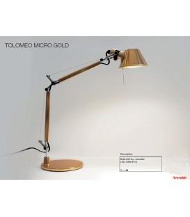 Artemide Tolomeo micro tavolo gold