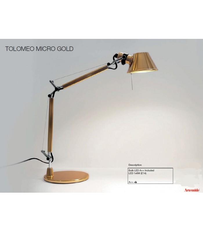 artemide tolomeo micrp tavolo gold prezzo scontato miglior. Black Bedroom Furniture Sets. Home Design Ideas