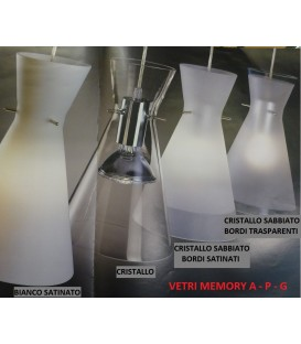 De Majo ricambio Memory SG/R1 vetro sabbiato bianco bordi trasparenti