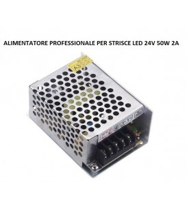 RIFLESSI ALIMENTATORE PROFESSIONALE LED 24V 50W IP20