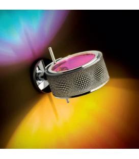Cini & Nils Componi 200 parete struttura acciaio cromato anello bianco disco opalescente retinato + disco satinato