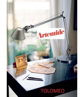 Artemide Tolomeo tavolo mini colore alluminio led con base diametro 200