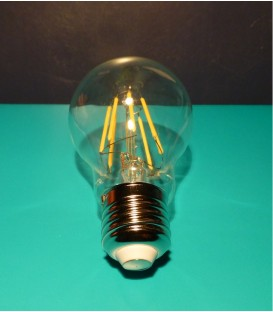 Lampada Led a goccia trasparente 8W attacco grande E27 3000°K