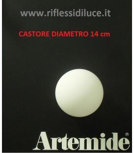 Artemide Castore 14 ricambio diffusore in vetro