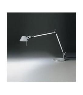 Artemide Tolomeo mini colore alluminio lampada alogena con base diametro 200