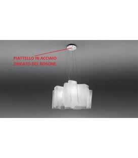 Artemide piattello acciaio ricambio rosone Logico - mini - micro a sospensione