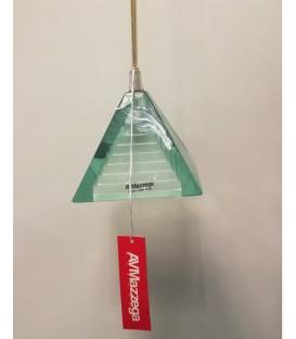 AV Mazzega Lilliput sospensione quadrata vetro colore verde