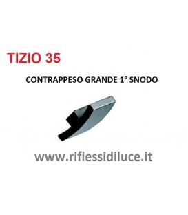 Artemide Tizio 35 contrappeso grande inferiore primo snodo