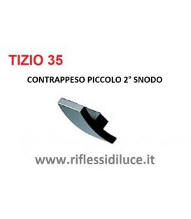Artemide Tizio 35 nera contrappeso piccolo superiore secondo snodo