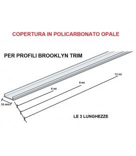Panzeri ricambio copertura in policarbonato opale lunghezza 9 mt