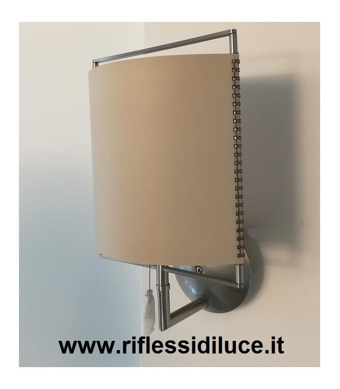 Treciluce|Elettra 22W|lampada da parete|struttura nickel satinato ...
