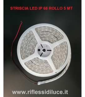 STRISCIA LED IP68 MT 5 24V SMD5050 14.4W/MT BIANCO NEUTRO