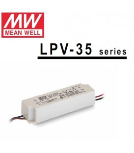 Mean Well alimentatore per led 24V 35W in contenitore plastico IP65 per esterno