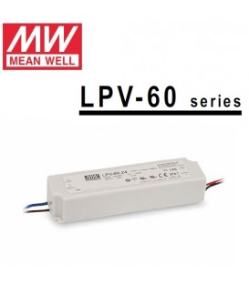 Mean Well alimentatore per led 24V 60W in contenitore plastico IP65 per esterno
