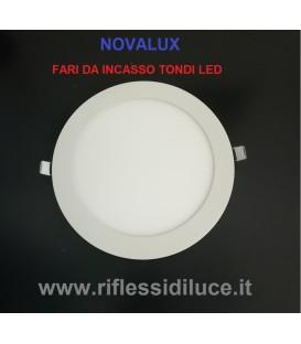 Novalux Ring faro da incasso tondo led struttura di alluminio posteriore