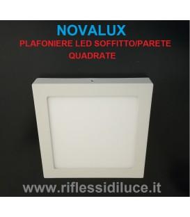 Novalux Ring plafoniera led quadrata225X 225 mm led 17W luce bianca calda