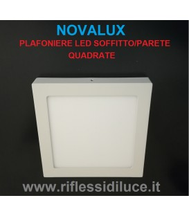 Novalux Ring plafoniera led quadrata225X 225 mm led 17W luce bianca naturale