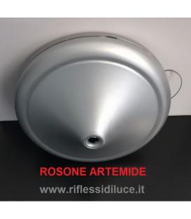 Artemide ricambio fenice rosone in PVC colore alluminio diametro 11 cm