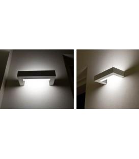 Castaldi Edra applique fluorescente 24W colore alluminio