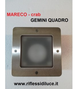 Mareco crab zenit quadro orientabile faro da incasso per esterno 12V 35W