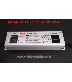 Mean Well alimentatore per led 24V 240W in contenitore metallico IP67 per esterno