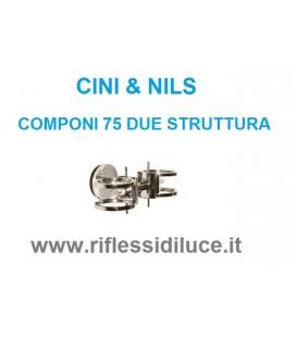 Cini & nils componi 75 due parete soffitto struttura nichel satinato