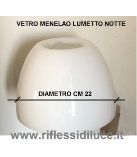 Artemide ricambio Menelao lumetto notte diffusore in vetro