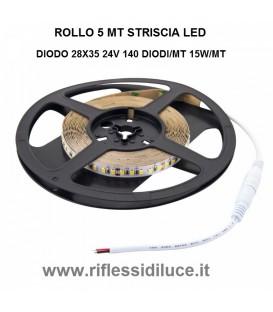 Striscia led IP20 24V 15W/mt 2835 luce bianco freddo