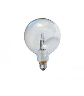 Lampanine ecoalogene a globo in vetro trasparente diametro cm 12,5, potenza 18W, attacco E27