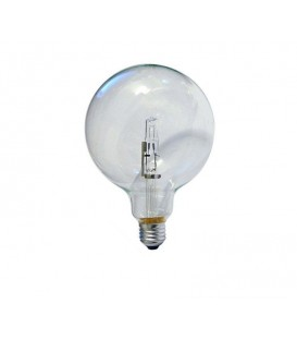 Lampadina alogena globo 18W E27 trasparente diametro 125
