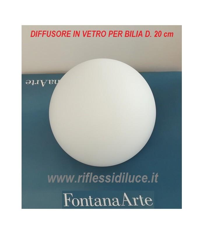 Fontanaarte Bilia Diffusore In Vetro Bianco Latte Ricambi Lampade Fontanaarte A Salerno Prezzi Ricambi Lampade Fontanaarte