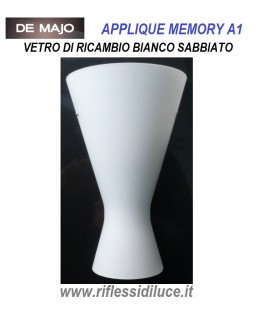 De Majo vetro di ricambio bianco satinato, per applique Memory A 1
