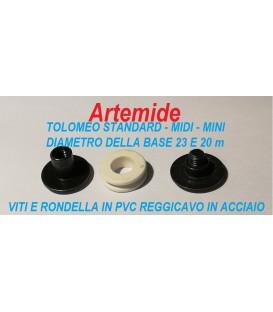 Artemide ricambio Tolomeo standard - midi e mini minuteria reggicavo di acciaio
