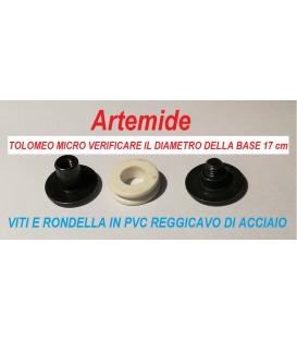 Artemide Tolomeo micro indicazione dei reggicavi per i cavi di acciaio