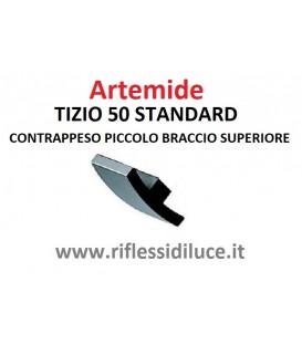 Artemide Tizio 50 standard nera contrappeso piccolo braccio superiore