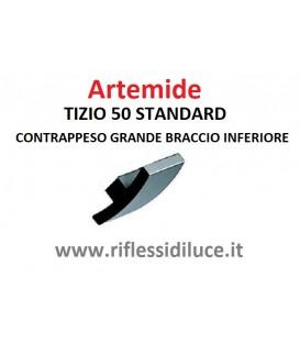 Artemide Tizio 50 standard nera contrappeso grande braccio inferiore