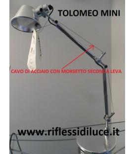 Artemide cavo di acciaio secondo braccio ricambio Tolomeo mini