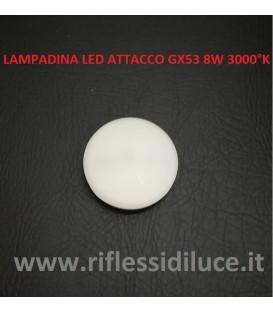 Lampadina led attacco GX53 8W luce calda 3000°K