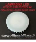 Lampadina led attacco GX53 9W luce calda 3000°K