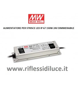 Mean Well alimentatore dimmerabile per led 24V 150W in contenitore metallico IP67 per esterno