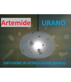 Artemide urano 20 diffusore di ricambio in vetro bianco