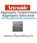 Artemide kit per decentramento per aggregato sospensione e saliscendi