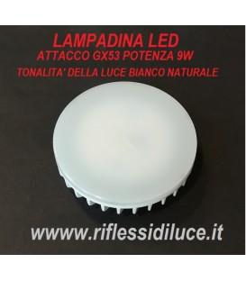 Lampadina led attacco GX53 9W luce bianco naturale 4000°K