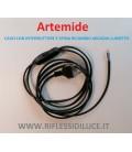 Artemide ricambio per lumetto Arcadia cavo con interruttore e spina