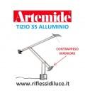 Artemide Tizio 35 alluminio contrappeso grande inferiore primo snodo