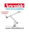 Artemide Tizio 35 alluminio contrappeso piccolo superiore secondo snodo