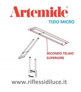 Artemide Tizio micro silver secondo telaio superiore