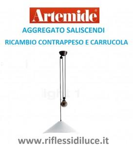 Artemide aggregato saliscendi cono opale contrappeso e carrucola di ricambio